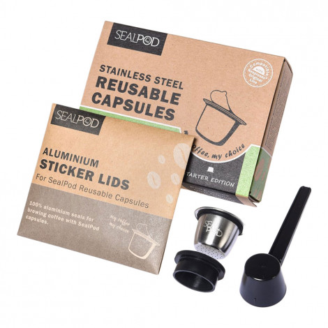"""Wiederverwendbare Kaffeekapsel geeignet für Nespresso® Sealpod """"Starter Edition"""""""