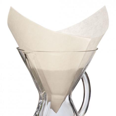 """Kwadratowe papierowe filtry Chemex """"FS-100"""", 100 szt."""