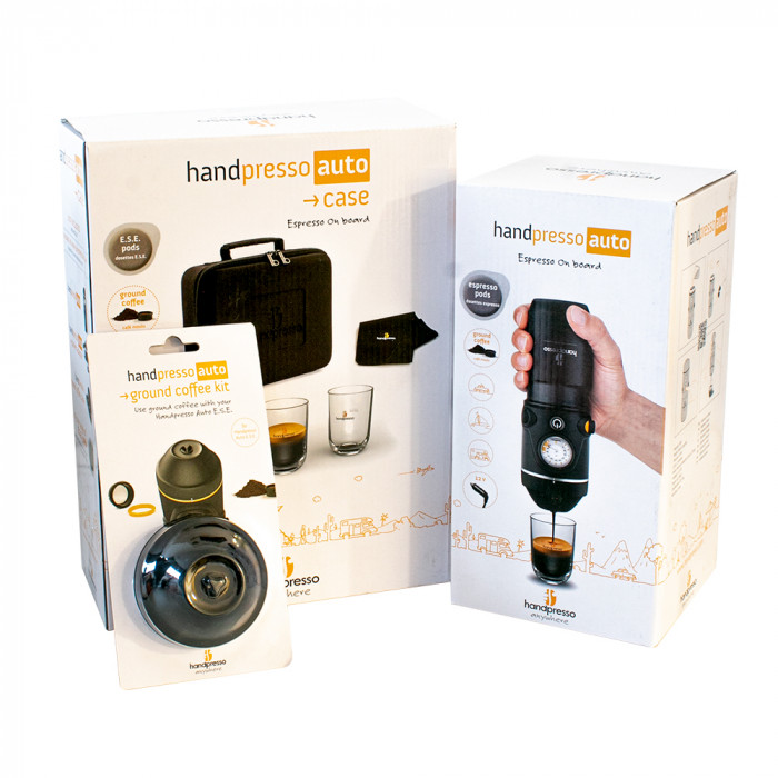 "Handpresso rinkinys ""Auto E.S.E + Ground Coffee Kit + Case"""