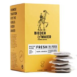 "Coffee pads Bieder & Maier ""N°1 FRESH"", 18 Stk."