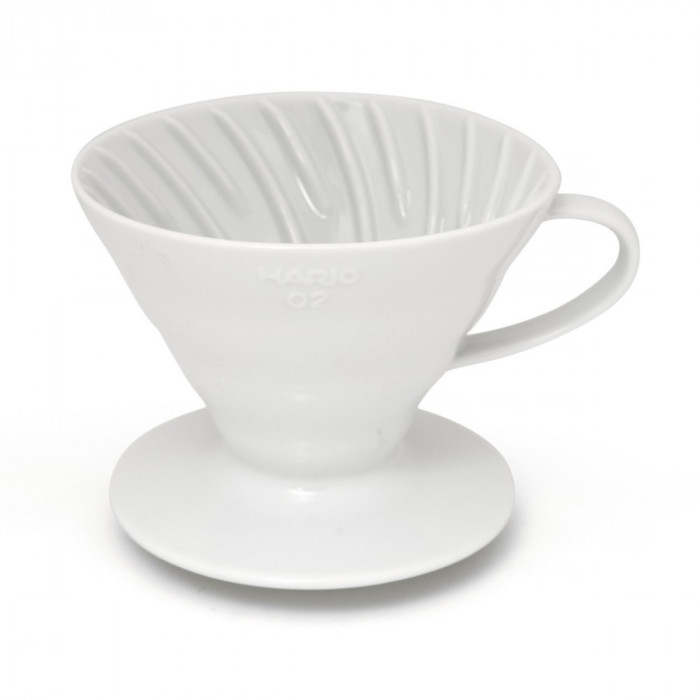 "Ceramic coffee dripper Hario ""V60-02 White"""