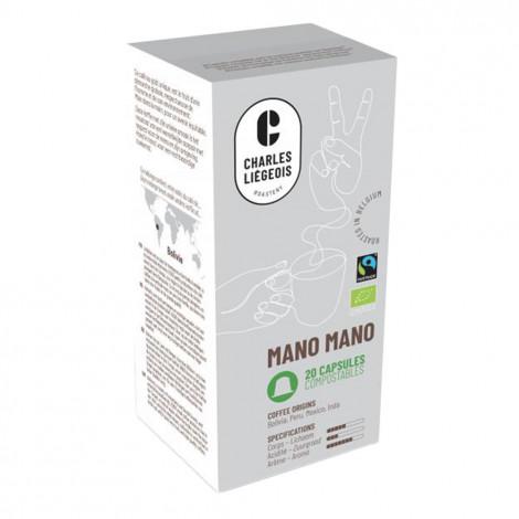 "Kaffeekapseln geeignet für Nespresso® Charles Liégeois ""Mano Mano"", 20 Stk."