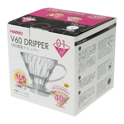 "Coffee brewing set Hario ""V60-02 + 40 filters"""