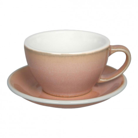"Puodelis su lėkštute Loveramics ""Egg Rose"", Café Latte, 300 ml"