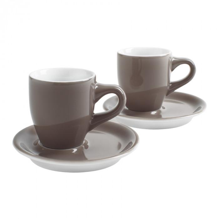"""Filiżanki do kawy Café Sommelier """"Espresso Taupe"""", 2 szt."""