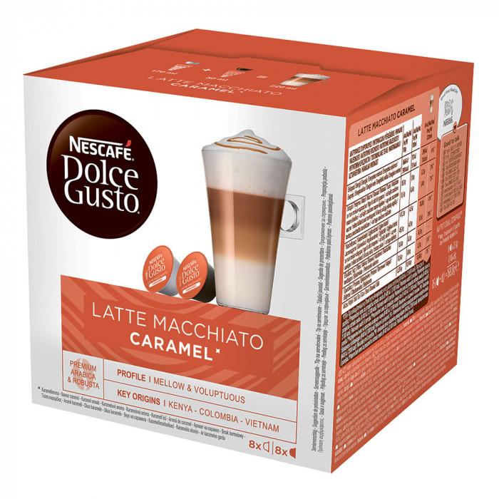 "Kahvikapselit NESCAFÉ Dolce Gusto ""Caramel Latte Macchiato"", 8+8 kpl."