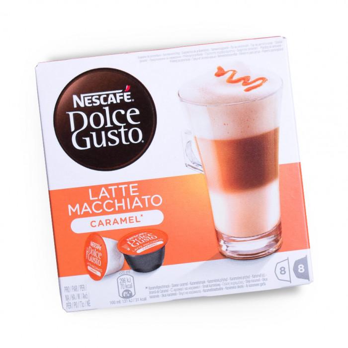 "Kohvikapslid NESCAFÉ Dolce Gusto ""Caramel Latte Macchiato"", 8×8 tk."