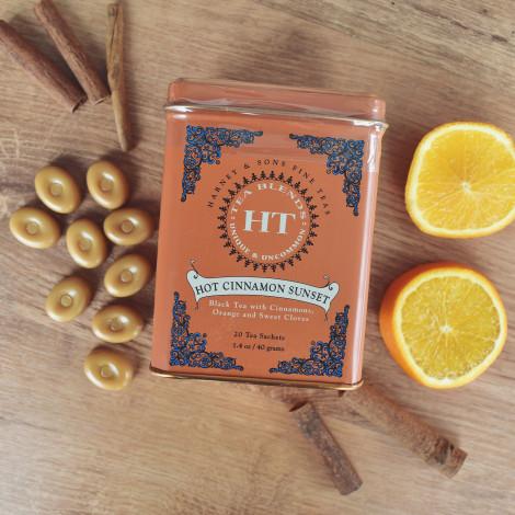 """Melnā tēja ar aromātiem Harney&Sons """"Hot Cinnamon Sunset"""", 20 gab."""
