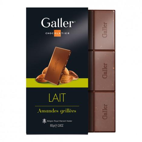 """Šokolādes tāfelīte Galler """"Milk Almonds"""", 80 g"""