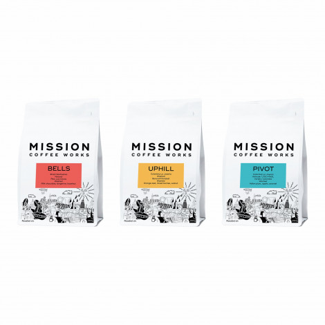 """Coffee beans set Mission Coffee Works """"Roaster's espresso selection"""", 750 g"""