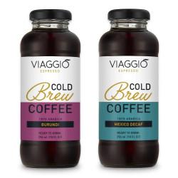 """Cold brew coffee Viaggio Espresso """"Cold Brew Burundi + Decaf"""", 592 ml"""