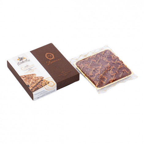"""Milk chocolate with caramel, biscuits and salt """"Laurence"""", 100 g"""
