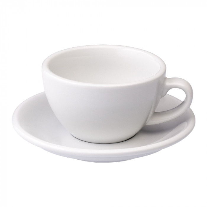 "Cappuccino cup with a saucer Loveramics ""Egg White"", 250 ml"