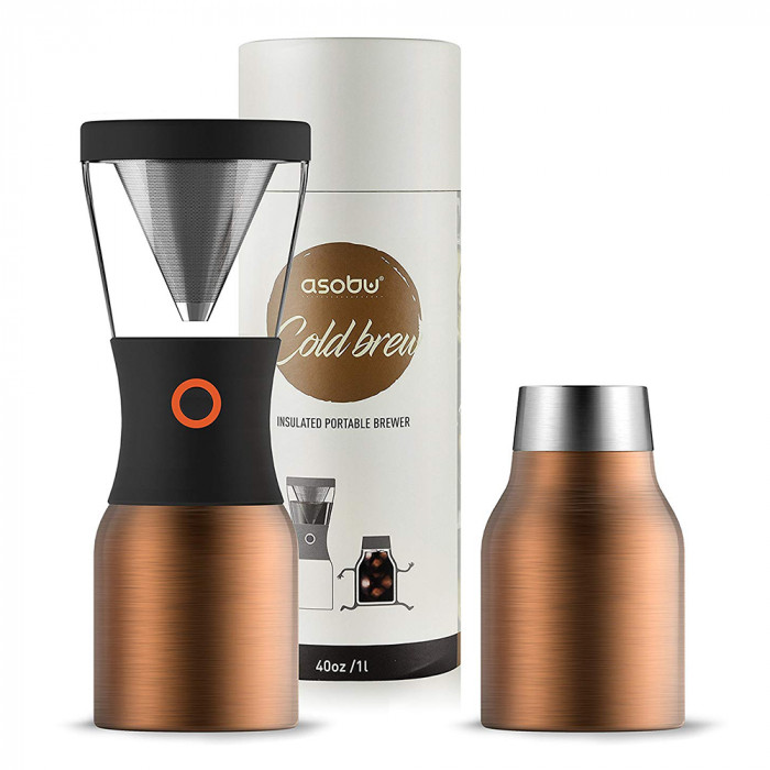 "Cold brew coffee maker Asobu ""Stainless Steel Copper"""