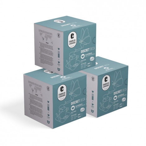"""Coffee capsules compatible with Dolce Gusto® set Charles Liégeois """"Discret Deca"""", 3 x 16 pcs."""