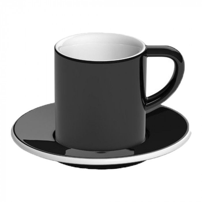 "Espresso cup with a saucer Loveramics ""Bond Black"", 80 ml"