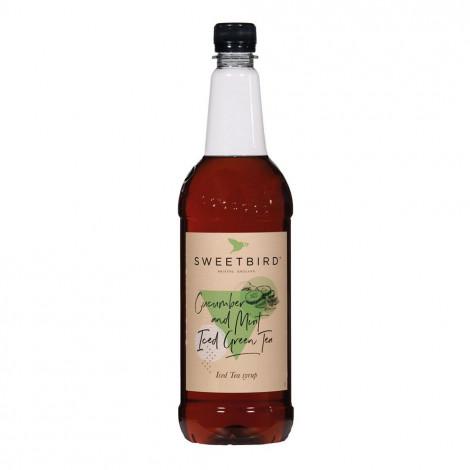 """Makusiirappi jääteelle Sweetbird """"Cucumber & Mint Iced Green Tea"""", 1 l"""