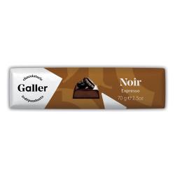 """Šokolādes batoniņš Galler """"Dark Espresso"""", 70 g"""