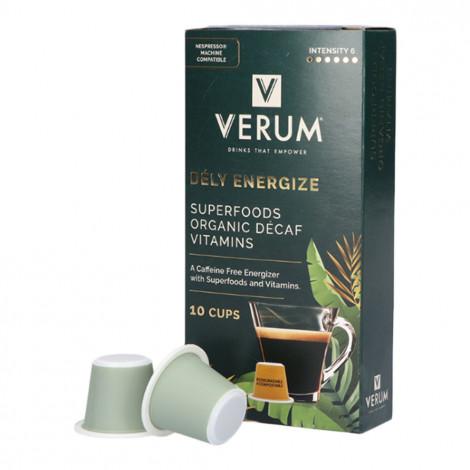 """Entkoffeinierte Energie-Kaffeekapseln geeignet für Nespresso® Verum """"Dély Energize"""", 10 Stk."""