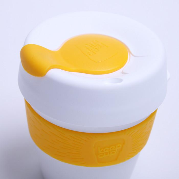 "Kavos puodelis KeepCup ""White/Yellow"", 227 ml"