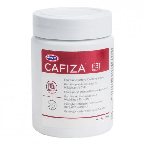 "Valymo tabletės profesionaliems kavos aparatams Urnex ""Cafiza"", 100 vnt."