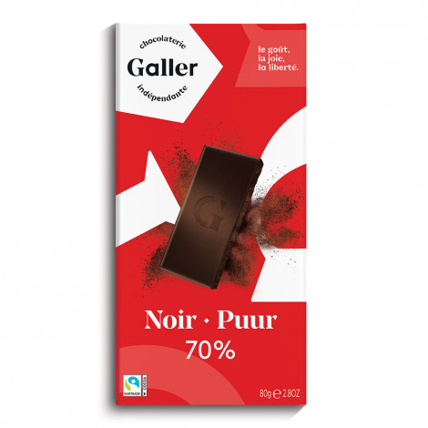 "Schokoladentafel Galler ,,Dark 70%"" 80 g"