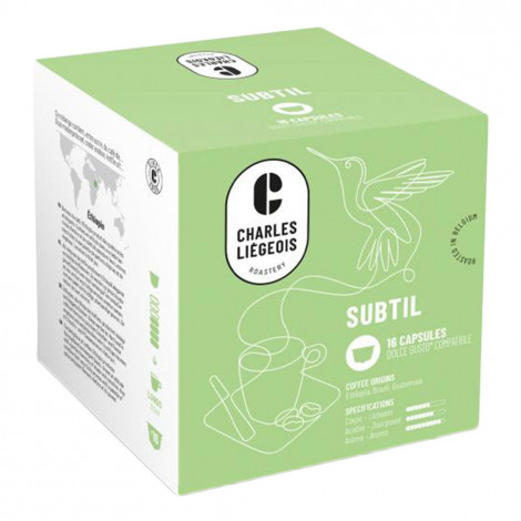 """Coffee capsules compatible with Dolce Gusto® Charles Liégeois """"Subtil"""", 16 pcs."""