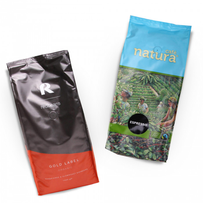 """Zestaw kawy ziarnistej """"Gold Label Organic"""" + """"Espresso"""""""