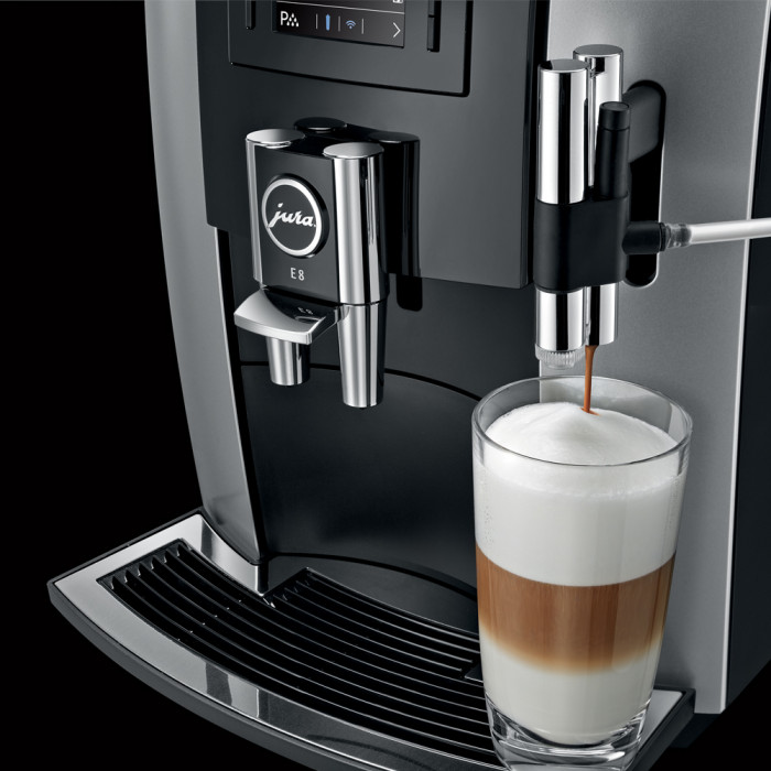 coffee machine jura impressa e8 the coffee mate. Black Bedroom Furniture Sets. Home Design Ideas
