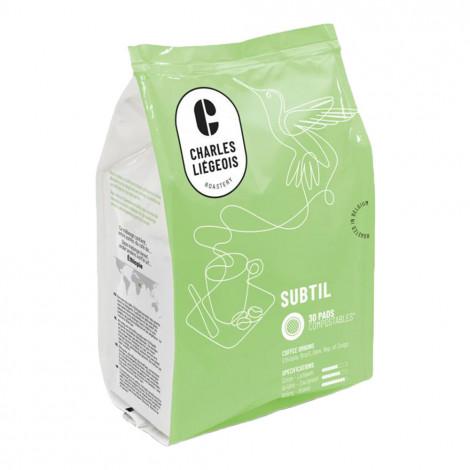 """Kaffeepads Charles Liégeois """"Subtil"""", 30 Stk."""