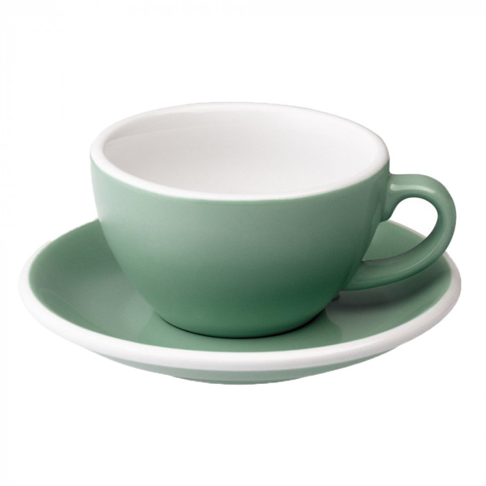 "Cappuccino cup with a saucer Loveramics ""Egg Mint"", 200 ml"