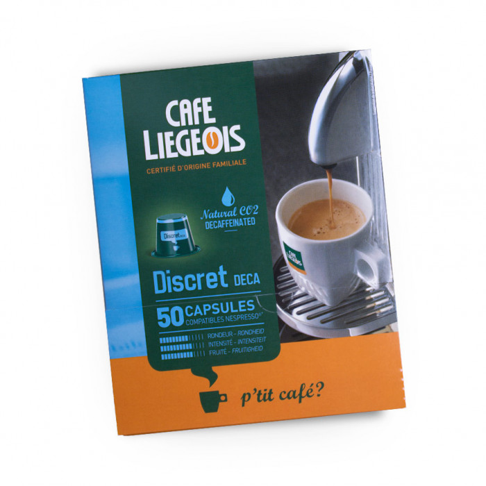 """Coffee capsules Café Liégeois """"Discret Deca"""", 50 pcs."""