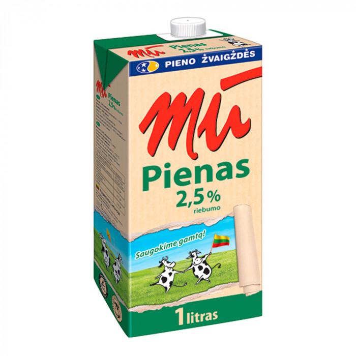 """Pienas """"MŪ"""", 2.5%, 1 l"""