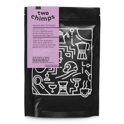 """Coffee beans Two Chimps """"How Many Llamas Did You Say Were in the Phonebox?"""", 250 g"""