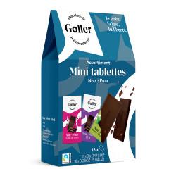 """Šokolādes tāfelīšu komplekts Galler """"Dark Assortment"""", 18 gab."""