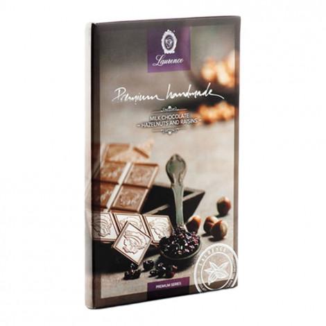 "Milk chocolate with hazelnuts and raisins ""Laurence"", 80 g"