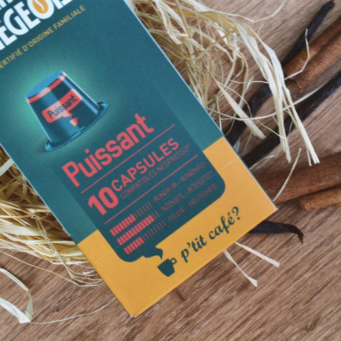 """Coffee capsules Café Liégeois """"Puissant"""", 10 pcs."""