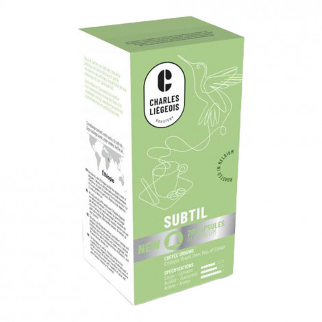 """Kohvikapslid sobivad Nespresso® masinatele Charles Liégeois """"Subtil"""", 20 tk."""