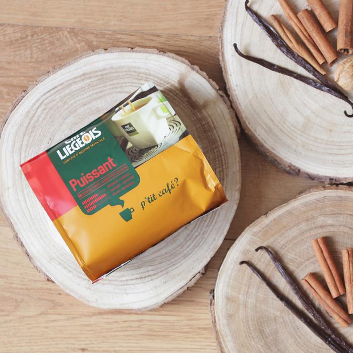 """Coffee pads Café Liegeois """"Puissant"""", 18 pcs."""