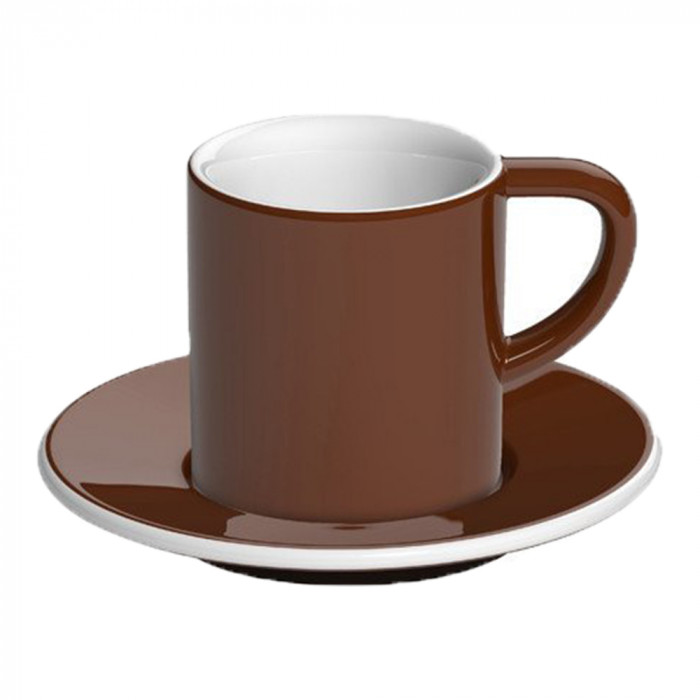 "Espresso cup with a saucer Loveramics ""Bond Brown"", 80 ml"