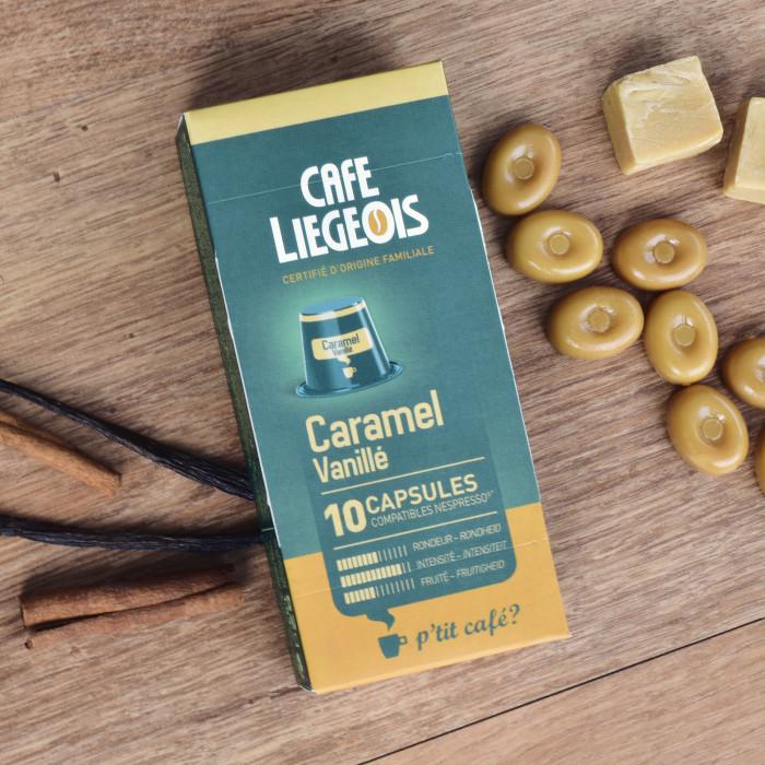 "Kavos kapsulės Café Liégeois ""Caramel"", 10 vnt."