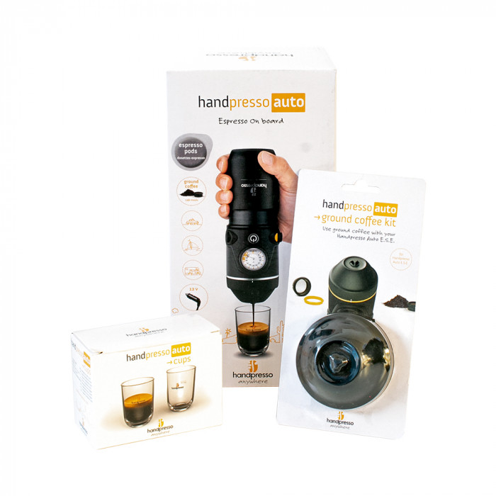 "Handpresso seatud ""Auto E.S.E + Ground Coffee Kit + 2 Cups"""
