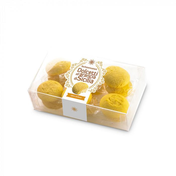 Sicilietiški migdoliniai sausainiai su apelsinų įdaru Siciliatentazioni, 200 g