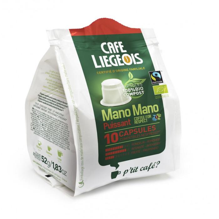 """Kohvikapslid Café Liégeois """"Mano Mano Puissant"""", 10 tk."""