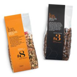 """Set of organic granolas IJLB """"#3 + #8"""", 2 x 250 g"""