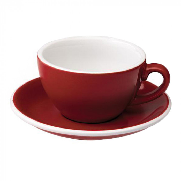 "Cappuccino cup with a saucer Loveramics ""Egg Red"", 200 ml"