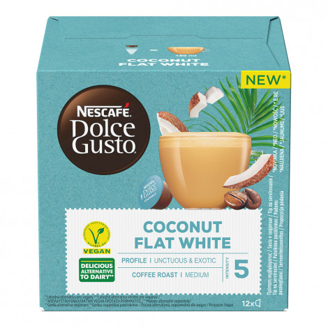 """Coffee capsules compatible with Dolce Gusto® NESCAFÉ Dolce Gusto """"Coconut Flat White"""", 12 pcs."""