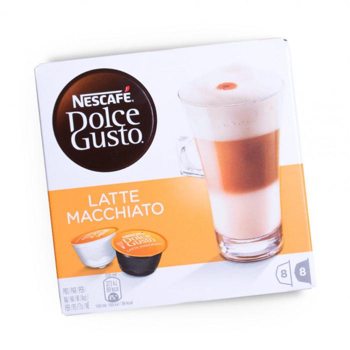 """Coffee capsules NESCAFÉ Dolce Gusto """"Latte Macchiato"""", 8×8 pcs."""