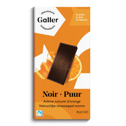 "Schokoladentablette Galler ,,Dark Orange"" 80 g"