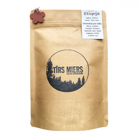 """Specializētās kafijas pupiņas Tīrs Miers """"Etiopija""""– 200 g"""